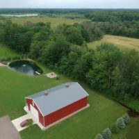 Big Red Barn South Haven Aerial View
