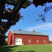 big red barn near lake michigan event venue