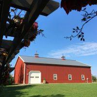 big red barn near lake michigan event venue